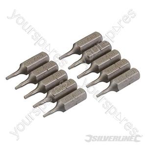 T5 Cr-V Screwdriver Bits 10pk - T5