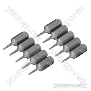T4 Cr-V Screwdriver Bits 10pk - T4