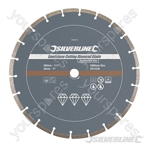 Sandstone Cutting Diamond Blade - 300 x 20mm Segmented Rim