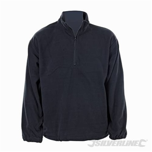 "Silverline 1/4 Zip Fleece Top - XL 122cm (48"")"
