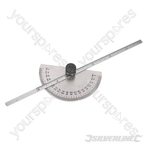 Protractor with Depth Gauge Scale - 150mm