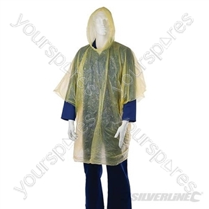 Waterproof Poncho - One Size-Yellow