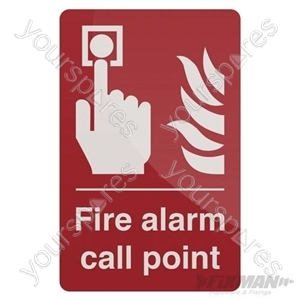 Fire Alarm Call Point Sign - 100 x 150mm Self-Adhesive