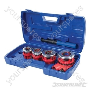 "Pipe Threading Kit 5pce - 1/2"", 3/4"", 1"" & 1-1/4"" BSPT"