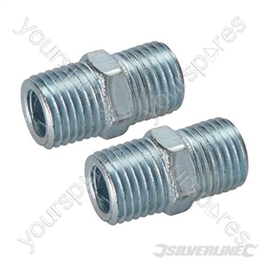 "Air Line Equal Union Connector 2pk - 1/4"" BSPT"