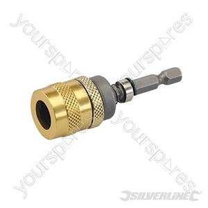 """Depth Adjustable Bit Holder - 70mm - 1/4"""" Hex"""