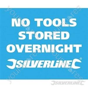 Vehicle Window Stickers - No Tools Stored Overnight' 10pk