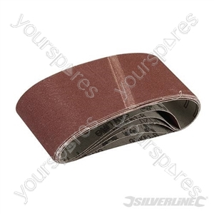 Sanding Belts 65 x 410mm 5pk - 120 Grit