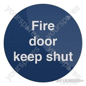 Fire Door Keep Shut Sign - 80 x 80mm