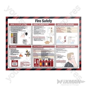 Fire Safety Sign - 590 x 420mm Laminated