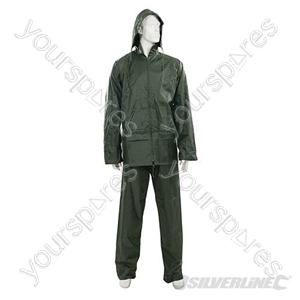 "Rain Suit Green 2pce - XXL 79 - 138cm (31 - 54"")"