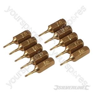 T5 Gold Screwdriver Bits 10pk - T5
