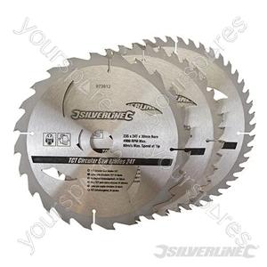 TCT Circular Saw Blades 24, 40, 48T 3pk - 235 x 30 - 25, 16mm Rings