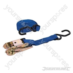 Ratchet Tie Down Strap S-Hook 4.5m x 55mm - Rated 150kg Capacity 375kg