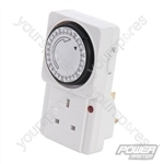 Plug-In Mechanical Timer 240V - 7 Day