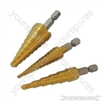 Titanium-Coated HSS Step Drill Set 3pce - 3pce