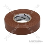Insulation Tape - 19mm x 33m Brown