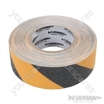 Anti-Slip Tape - 50mm x 18m Black/Yellow