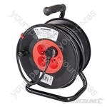 French Type E Cable Reel 230V - 16A 25m 4 CEE 7/5 Sockets