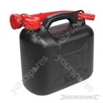 Plastic Fuel Can 5Ltr - Black