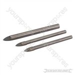 Tile & Glass Drill Bit Set 3pce - 5, 6 & 8mm
