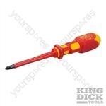 King Dick VDE Pozidriv Screwdriver - PZ2 - 6 x 100mm