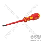 King Dick VDE Slotted Screwdriver - 4 x 100mm