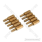 T20 Gold Screwdriver Bits 10pk - T20