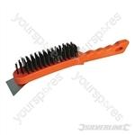 Steel Wire Brush - 5 Row / Scraper