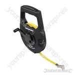 Geared Surveyors Tape - 100m / 328ft x 12mm