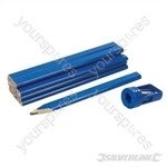 Carpenters Pencils & Sharpener Set 13pce - 175mm