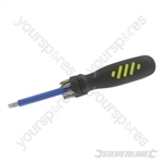 Multi-Bit Screwdriver with Telescopic Pick-Up Magnet - 7 Driver Bits