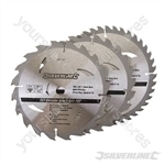 TCT Circular Saw Blades 20, 24, 40T 3pk - 190 x 16 - No Ring
