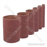 114mm Bobbin Sleeves Set 6pce - 114mm 80 Grit