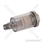 "Mini Air Line Filter - 6mm (1/4"") BSPT"