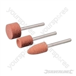 Rotary Tool Grinding Stone Set 3pce - 9.5, 9.5 & 15.8mm Dia