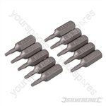 T8 Cr-V Screwdriver Bits 10pk - T8