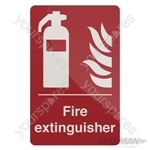 Fire Extinguisher Sign - 200 x 300mm Self-Adhesive