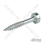 "Zinc Pocket-Hole Screws Pan Head Fine - No.6 x 1"" 100pk"