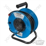 Cable Reel 230V Freestanding - 2-Gang 25m