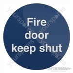 Fire Door Keep Shut Sign - 100 x 100mm Rigid