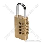 Combination Padlock Brass - 4-Digit