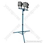 Tripod Twin Site Light - 2 x 400W 230V UK