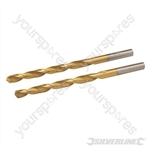 HSS Titanium-Coated Drill Bits 2pk - 4.8mm