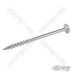 "Zinc Pocket-Hole Screws Washer Head Coarse - No.8 x 2-1/2"" 50pk"