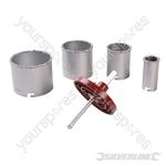 Tungsten Carbide Grit Holesaw Set 6pce - 33 - 83mm Dia