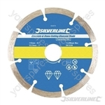 Concrete & Stone Cutting Diamond Blade - 115 x 22.23mm Segmented Rim