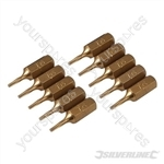 T6 Gold Screwdriver Bits 10pk - T6