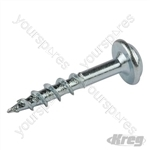 "Zinc Pocket-Hole Screws Washer Head Coarse - No.8 x 1"" 500pk"
