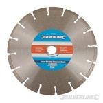 Laser-Welded Concrete & Stone Cutting Diamond Blade - 230 x 22.23mm Segmented Rim